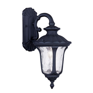 Oxford Black One Light 16.25-Inch Outdoor Wall Lantern