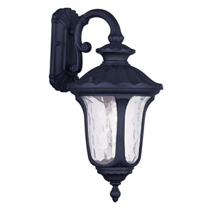Oxford Black One Light 19-Inch Outdoor Wall Lantern