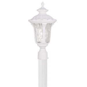 Oxford White 19-Inch One Light Outdoor Post Head