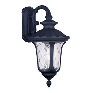 Oxford Black Three Light 22.5-Inch Outdoor Wall Lantern