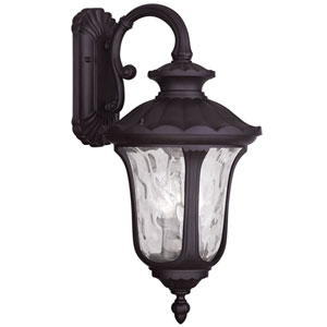 Oxford Bronze 12.5-Inch Three Light Outdoor Wall Lantern