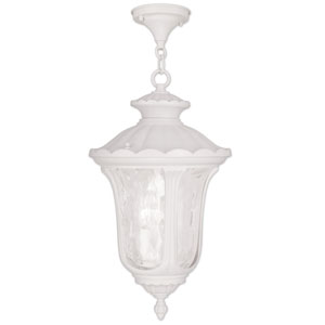 Oxford White 20.5-Inch Three Light Outdoor Chain Hung Pendant