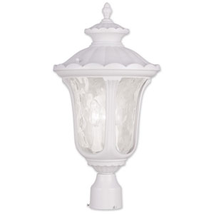 Oxford White 22-Inch Three Light Outdoor Post Head