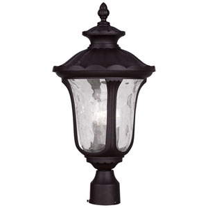 Oxford Bronze 22-Inch Three Light Outdoor Post Head