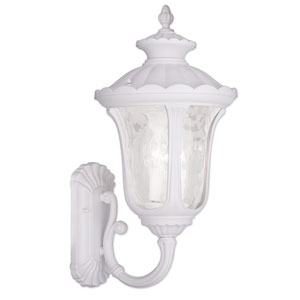 Oxford White 16.25-Inch Three Light Outdoor Wall Lantern