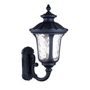 Oxford Black Three Light 28-Inch Outdoor Wall Lantern