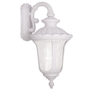 Oxford White 16-Inch Three Light Outdoor Wall Lantern