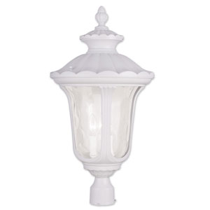 Oxford White 26.5-Inch Three Light Outdoor Post Head
