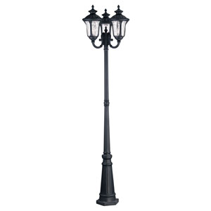 Oxford Black Three Light 87-Inch Outdoor Three Head Post