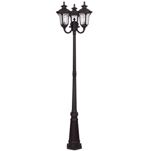 Oxford Bronze Three Light Outdoor 3 Head Post