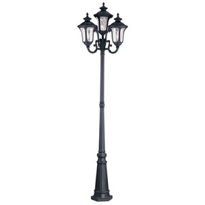 Oxford Black Four Light 93-Inch Outdoor Four Head Post