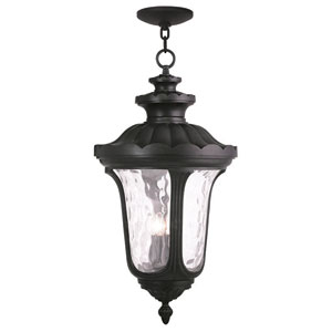 Oxford Black 17-Inch Four-Light Outdoor Chain Hang Pendant