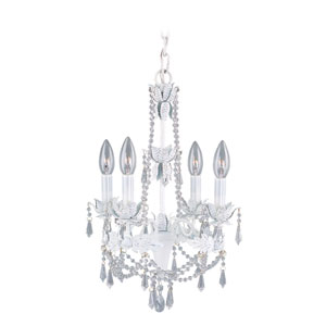 Regal Antique White Mini Chandelier