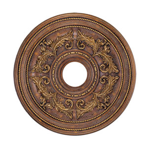 Crackled Greek Bronze Ceiling Medallion