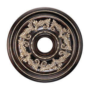 Hand Rubbed Bronze Ceiling Medallion