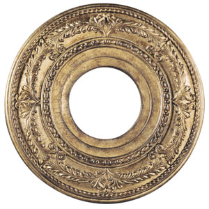 Vintage Gold Leaf 12-Inch Ceiling Medallion