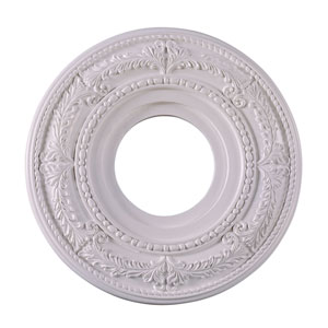White 12-Inch Ornate Ceiling Medallion