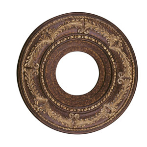Palatial Bronze with Gilded Accents 12-Inch Ceiling Medallion