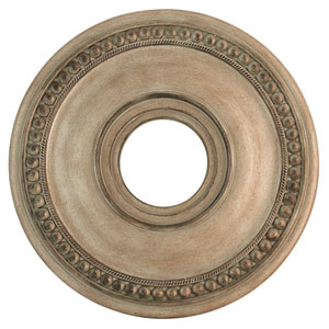 Wingate Hand Painted Antique Silver Leaf 16-Inch Ceiling Medallion