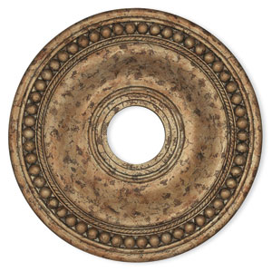 Wingate Hand Applied European Bronze 20-Inch Ceiling Medallion with Trim Detail