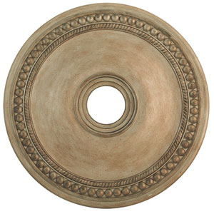 Wingate Hand Painted Antique Silver Leaf 24-Inch Ceiling Medallion