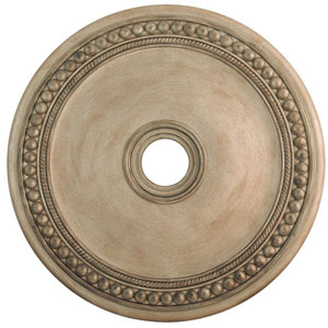 Wingate Hand Painted Antique Silver Leaf 30-Inch Ceiling Medallion