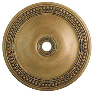 Wingate Hand Painted Antique Gold Leaf 42-Inch Ceiling Medallion