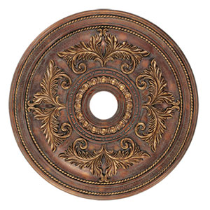 Large Crackled Greek Bronze Ceiling Medallion