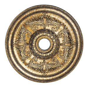 Vintage Gold Leaf  Ceiling Medallion