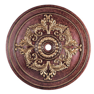 Verona Bronze with Aged Gold Leaf Accents 60-Inch Ceiling Medallion