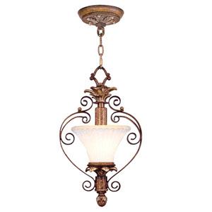Savannah Venetian Patina One-Light Convertible Pendant/Semi-Flush