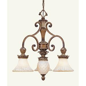 Savannah Three-Light Venetian Patina Chandelier