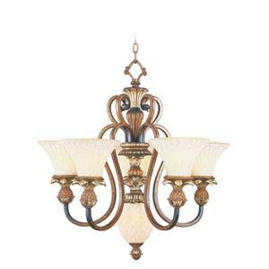 Savannah Venetian Patina Five-Light Chandelier