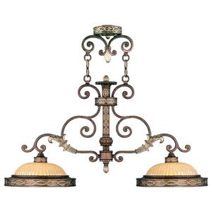 Seville Palacial Bronze Two-Light Island Pendant