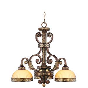 Seville Palacial Bronze Three-Light Chandelier