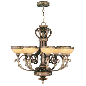 Seville Palacial Bronze Eight-Light Chandelier