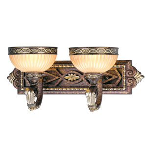 Seville Palacial Bronze Two-Light Bath Fixture