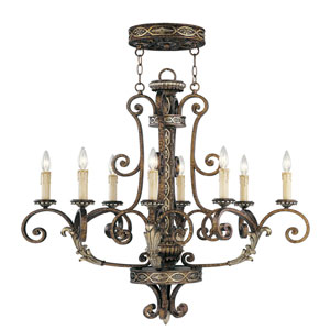 Seville Palacial Bronze Eight-Light Oval Chandelier