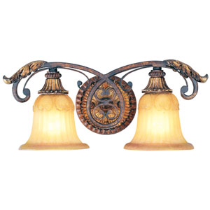 Villa Verona Bronze Two-Light Bath Fixture
