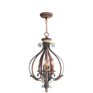 Villa Verona Bronze Four-Light Foyer Fixture