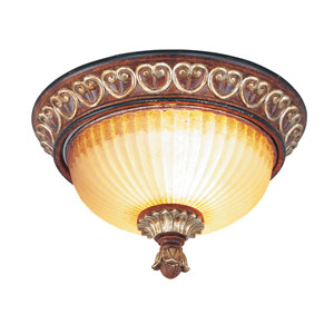 Villa Verona Bronze Two-Light Ceiling Mount