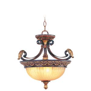 Villa Verona Bronze Three-Light Ceiling Mount/Chain Hung Fixture