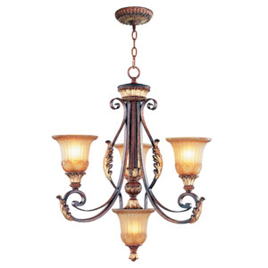 Villa Verona Bronze Three-Light Chandelier