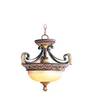 Villa Verona Bronze Two-Light Ceiling Mount/Chain Hung Fixture