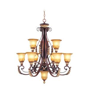 Villa Verona Bronze Nine-Light Chandelier