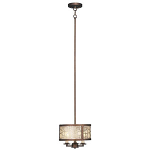 Avalon Palatial Bronze with Gilded Accents Three-Light Pendant