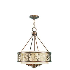 Avalon Palacial Bronze with Gilded Accents Five-Light Pendant