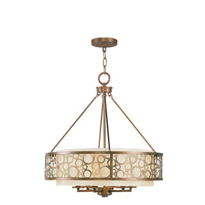 Avalon Palacial Bronze with Gilded Accents Six-Light Pendant