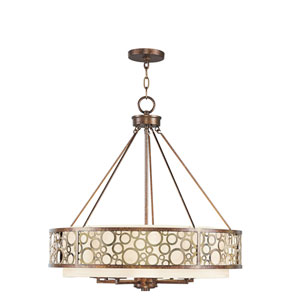 Avalon Palacial Bronze with Gilded Accents Eight-Light Pendant