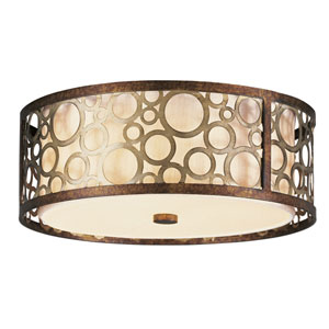 Avalon Palacial Bronze with Gilded Accents Three-Light Ceiling Mount